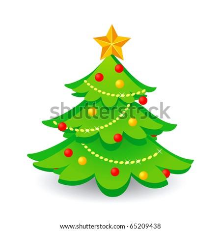Christmas tree.Vector.
