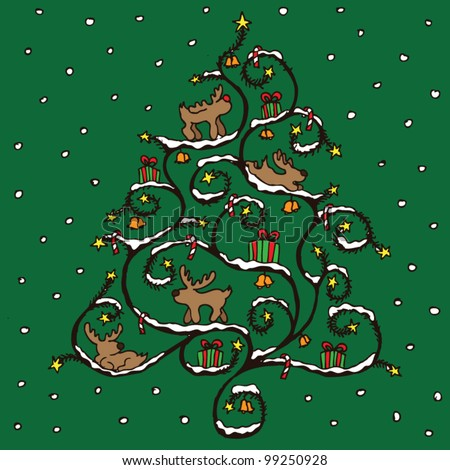 stock vector : Christmas tree vector