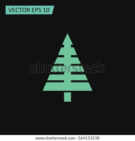 Christmas Tree Vector Icon. #564153238