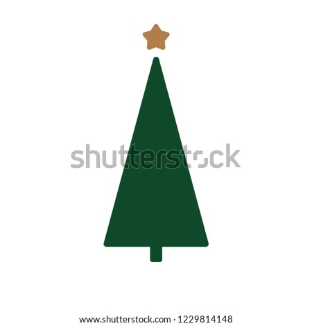 Christmas tree vector illustration #1229814148