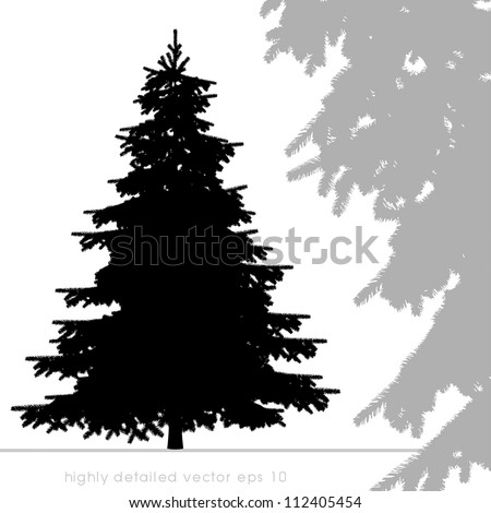 christmas tree vector with