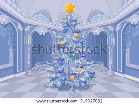 christmas tree with a shining