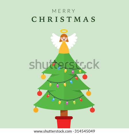 christmas tree with angel on top