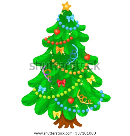 Royalty Free Stock Photos and Images: Christmas tree with ...