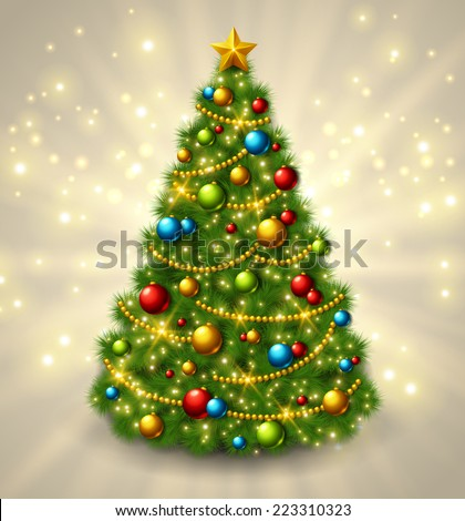christmas tree with colorful