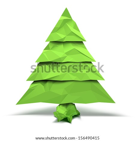 Christmas tree with crumpled paper effect