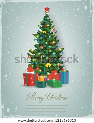 stock-vector-christmas-tree-with-decorations-and-gift-boxes-holiday-background-merry-christmas-and-happy-new