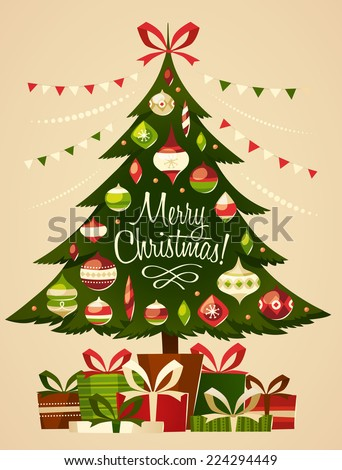 stock-vector-christmas-tree-with-gifts-christmas-card