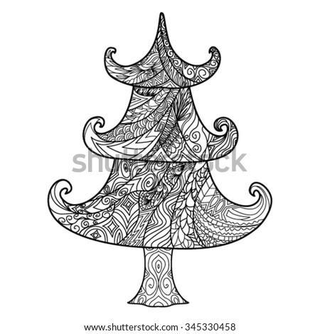 christmas tree  zendoodle