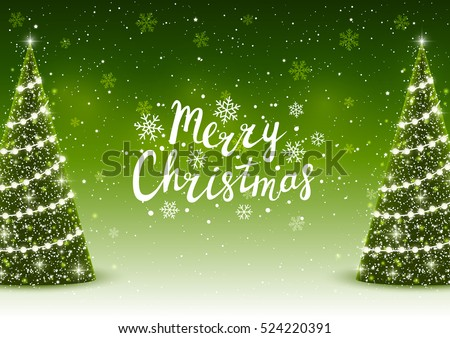 stock-vector-christmas-trees-on-shiny-green-background