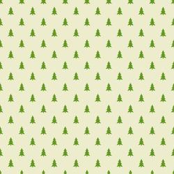 Christmas trees pattern. Vector illustration