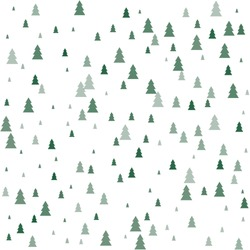 Christmas trees Seamless pattern. Winter happy New Year wrapping paper background. fir tree vintage holiday decor, vector illustration isolated on white. cute ornament