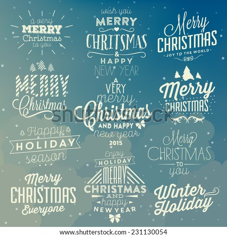 christmas typographic