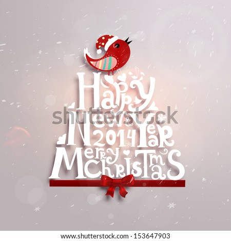 Christmas typographic label for Xmas and New Year holidays design Calligraphic vector Decoration