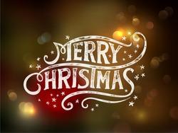 Christmas typography, handwriting