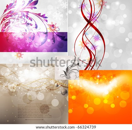 Christmas vector background set for abstract design. eps 10