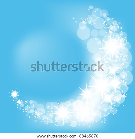 Christmas vector background, snowflakes light beam