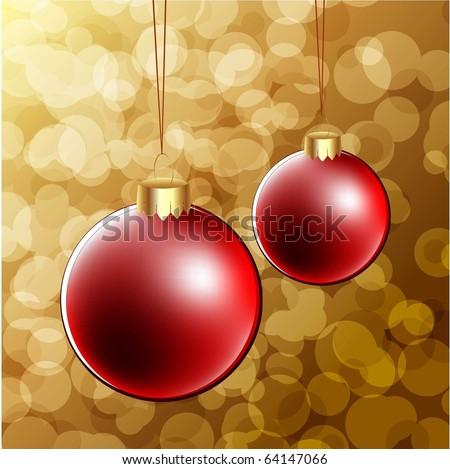 christmas vector background with christmas balls #64147066
