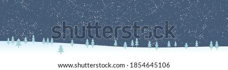 christmas vector, banner vector, pastel blue white, hand drawn pastel green pine trees, digital christmas banner, Facebook cover, linkedin logo vector, snow vector, Instagram logo