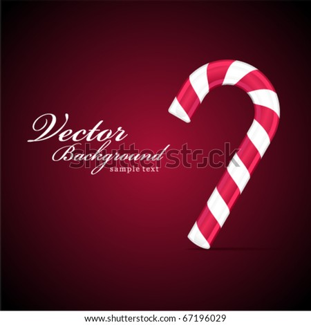 Christmas vector candy background