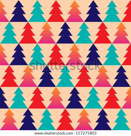 Christmas vector. Christmas texture. Christmas pattern. Christmas trees. Wrapping paper. Christmas Wrapping paper.