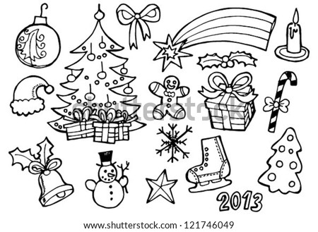Christmas vector doodles