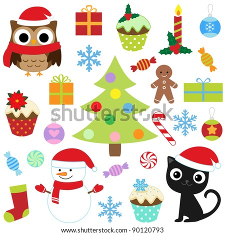 christmas vector elements set