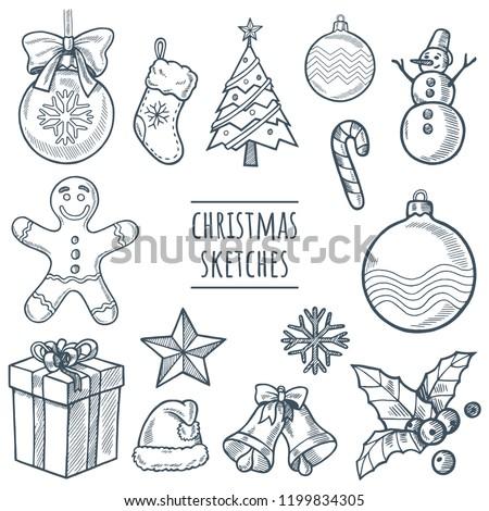 christmas vector hand drawn