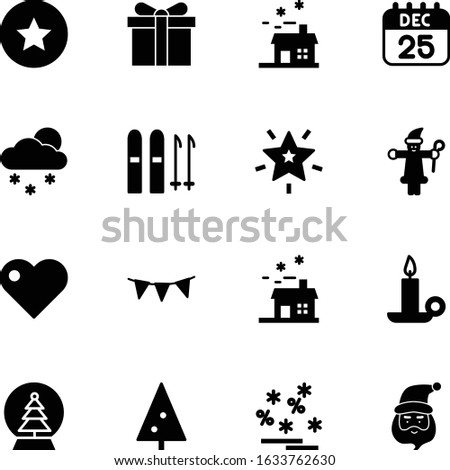 christmas vector icon set such as: card, deal, sky, love, 25th, people, athlete, snowglobe, green, globe, red, concept, heart, party, page, sale, faith, premium, calender, event, pennant, shop, flag