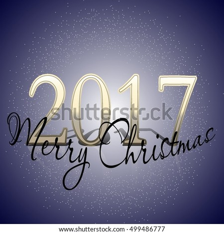 Christmas vector illustration for your design. Christmas 2017 and New Year. Sparkles, sequins, festive atmosphere. #499486777