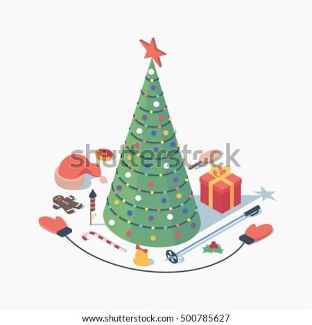 christmas  vector isometric
