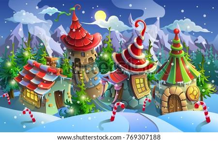 christmas village of santa