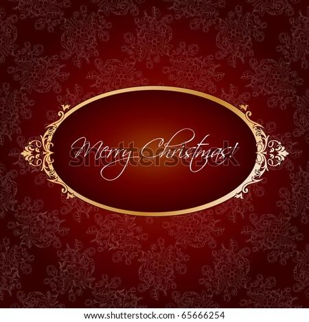 Christmas vintage greeting