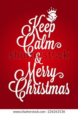 christmas vintage lettering card background