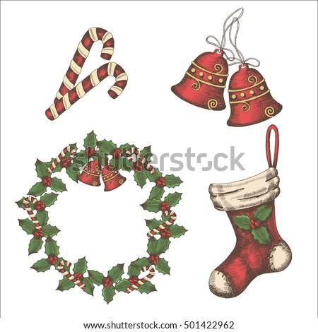 christmas vintage set of bells  ...