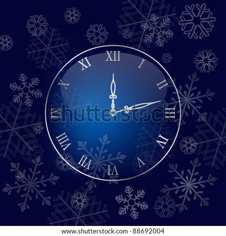 christmas wall clock background