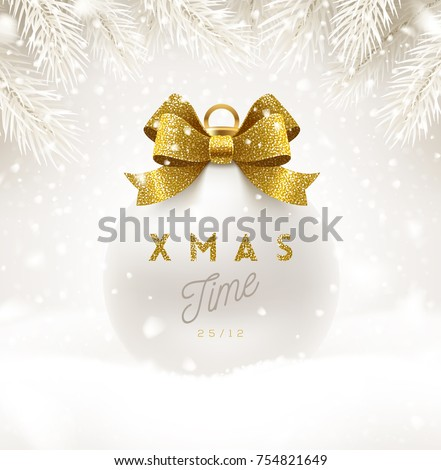 christmas white bauble with