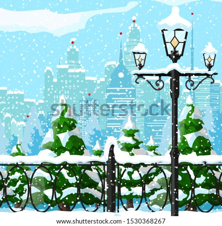 christmas winter cityscape
