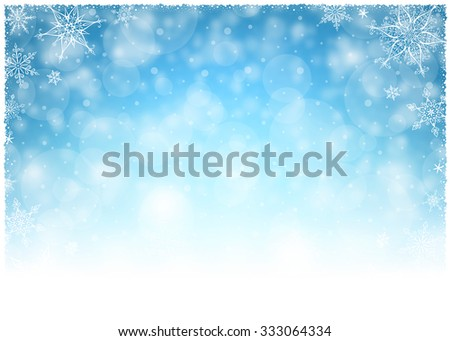 Stock Photo Christmas Winter Frame - Illustration Vector illustration of Christmas Winter Background