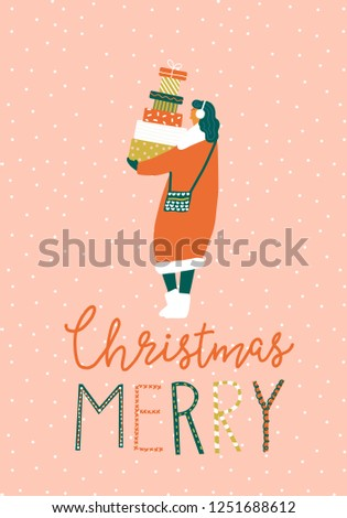 christmas winter holiday card