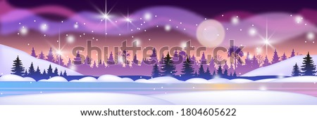 christmas winter landscape with
