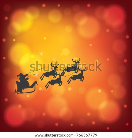 Christmas winter snow red background