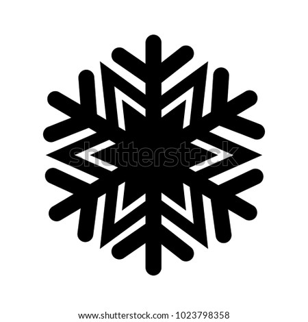 Christmas winter snowflake icon