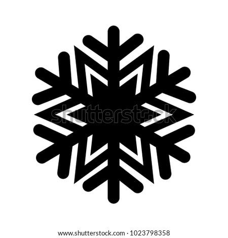 Christmas winter snowflake icon