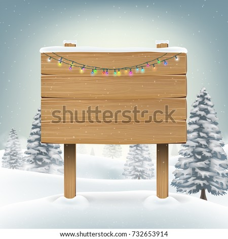 christmas wood board sign with