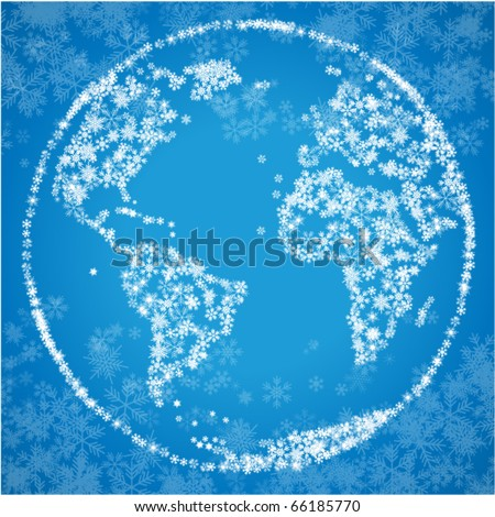 christmas world blue