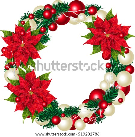 Christmas Wreath Vector Border | Free Vector Art at Vecteezy!