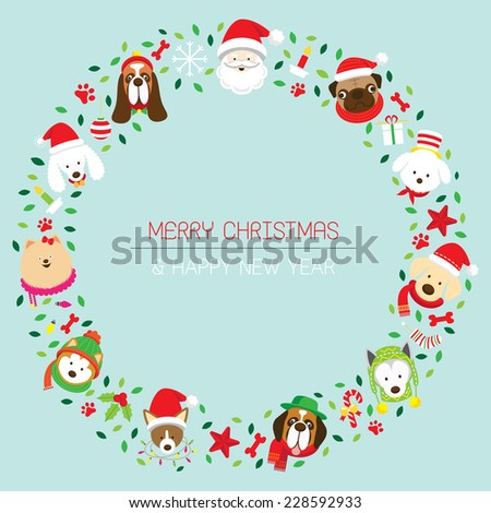 christmas wreath with various
