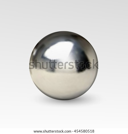 chrome ball realistic isolated