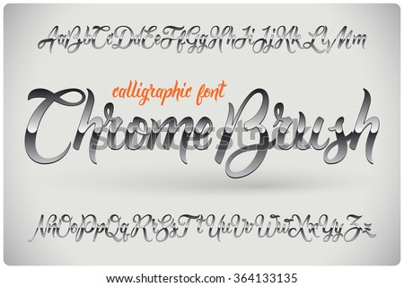 chrome brush calligraphic font